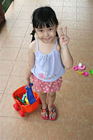 Child with Peace Sign
